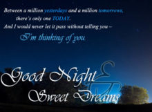Good night wishes to her