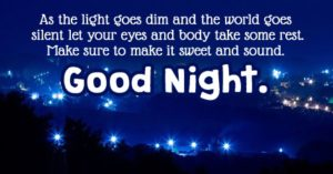 Good night messages and images