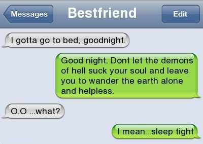 Funny Goodnight Texts Messages